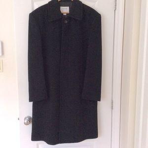 Joseph & Feiss Black Long Pea Coat